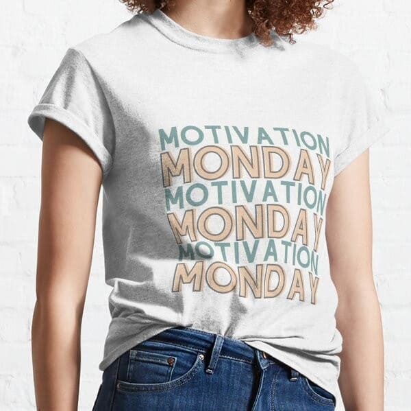 motivated monday fun shirt for a productive monday