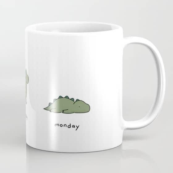 lazy monday cute mug for office