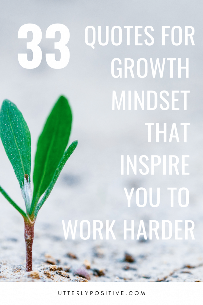 33 Quotes For Growth Mindset That Inspire You To Work Harder