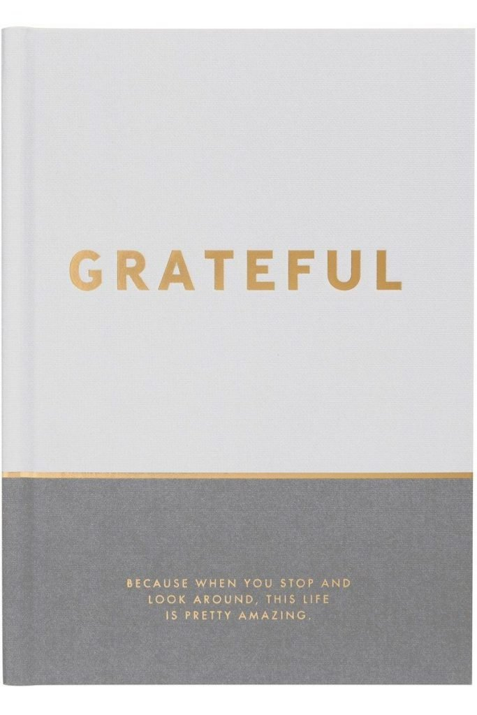 beautiful gratitude journal with prompts