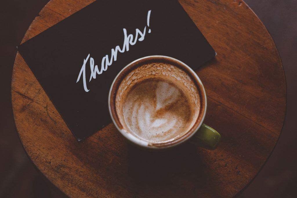 Send a gratitude message